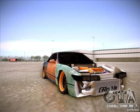 Nissan Silvia S13 Under Construction para vista lateral GTA San Andreas