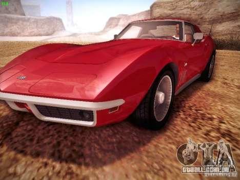 Chevrolet Corvette Stingray 1968 para GTA San Andreas vista direita