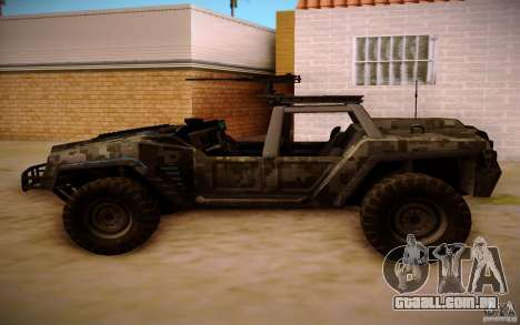 SOC-T from BO2 para GTA San Andreas vista traseira