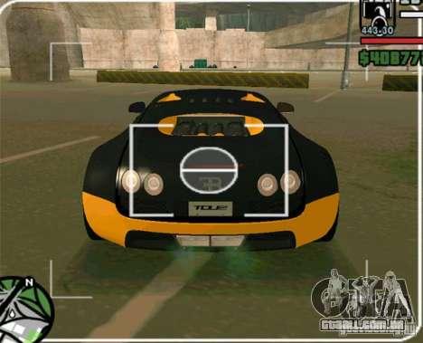 Bugatti Veyron Super Sport final para GTA San Andreas traseira esquerda vista
