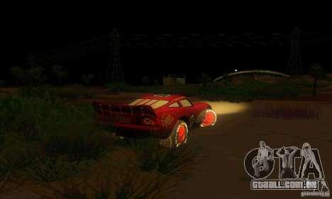 MCQUEEN from Cars para GTA San Andreas vista traseira