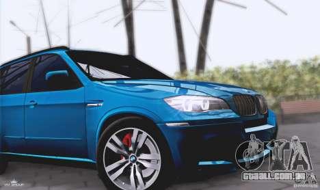 BMW X5M 2013 v1.0 para GTA San Andreas vista traseira