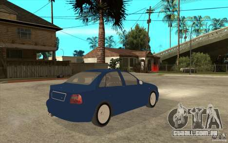 Audi A4 para GTA San Andreas vista direita