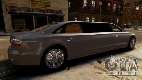 Audi A8 limousine para GTA 4 esquerda vista