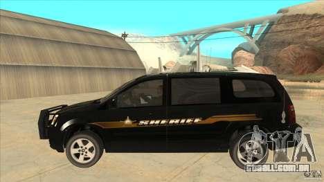 Dodge Caravan Sheriff 2008 para GTA San Andreas esquerda vista