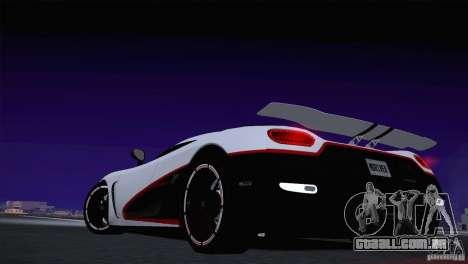 Koenigsegg Agera R 2012 para GTA San Andreas vista interior