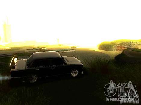 VAZ 2107 X-estilo para GTA San Andreas vista superior