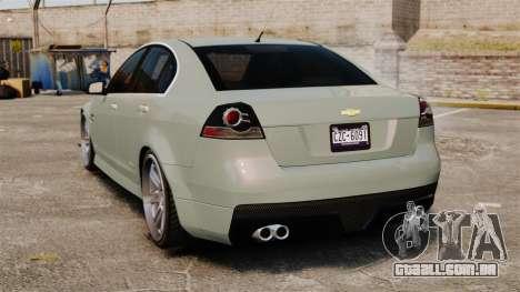 Chevrolet Lumina 2009 Mr. Bolleck Edition para GTA 4 traseira esquerda vista