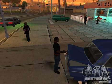 Abra o porta-malas e capô manualmente para GTA San Andreas quinto tela
