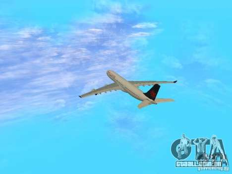 Airbus A340-300 Air Canada para GTA San Andreas vista interior