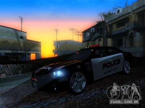 Dodge Charger SRT8 Police para GTA San Andreas vista interior