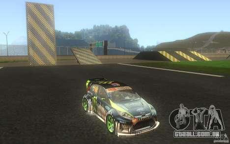 Ford Fiesta Gymkhana para GTA San Andreas vista interior