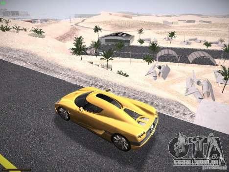 LiberrtySun Graphics ENB v3.0 para GTA San Andreas por diante tela