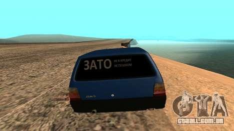 VAZ 1111 Oka para GTA San Andreas traseira esquerda vista