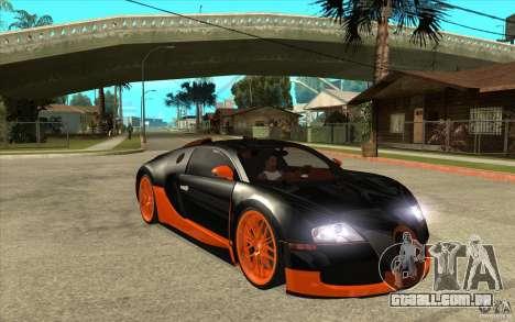 Bugatti Veyron Super Sport 2011 para GTA San Andreas vista traseira