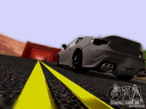 Toyota 86 TRDPerformanceLine 2012 para GTA San Andreas vista inferior