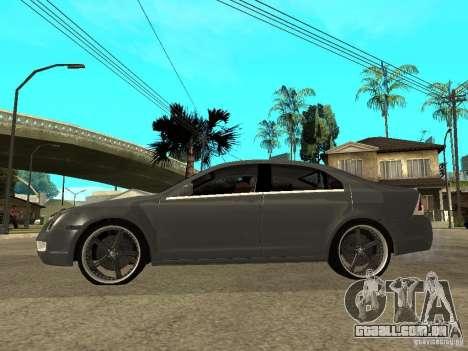 Ford Fusion 2008 Dub para GTA San Andreas esquerda vista