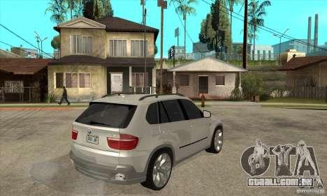 BMW X5 E70 Tuned para GTA San Andreas vista direita