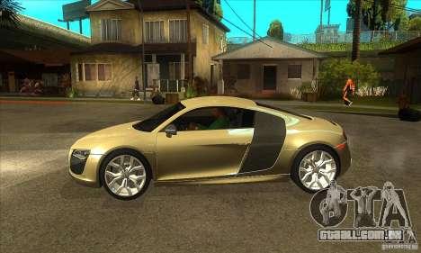 Audi R8 V10 5.2 FSI Quattro para GTA San Andreas esquerda vista