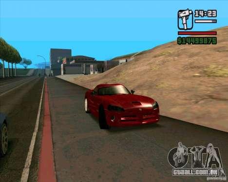 Dodge Viper SRT-10 Coupe para GTA San Andreas vista direita