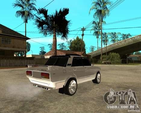 VAZ-2107 luz Tuning v 2.0 para GTA San Andreas traseira esquerda vista