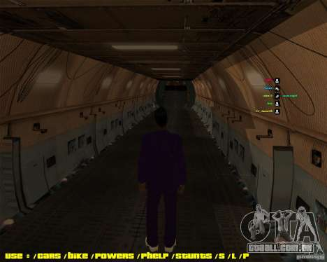 Lockheed C5-M Super Galaxy para GTA San Andreas vista direita