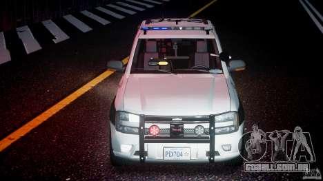 Chevrolet Trailblazer Police V1.5PD [ELS] para GTA 4 vista inferior