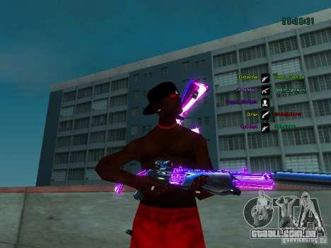 Cromo roxo em armas para GTA San Andreas terceira tela