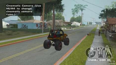 Jeep CJ-7 4X4 para GTA San Andreas traseira esquerda vista