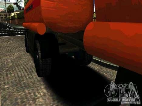 MAZ 533702 caminhão para GTA San Andreas traseira esquerda vista