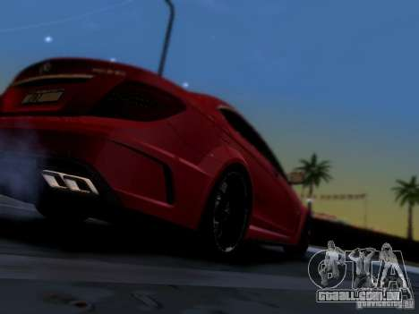 Mercedes Benz C63 AMG C204 Black Series V1.0 para GTA San Andreas vista interior