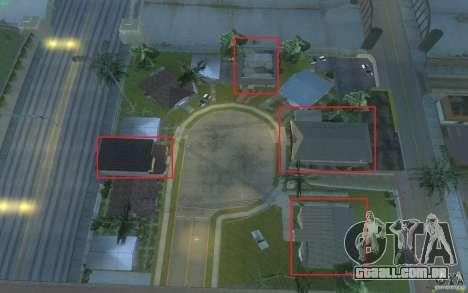 Quatro casas novas na Grove Street para GTA San Andreas quinto tela