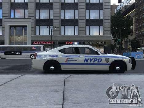 Dodge Charger NYPD para GTA 4 traseira esquerda vista