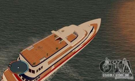Korteza iate de Vice City para GTA San Andreas traseira esquerda vista