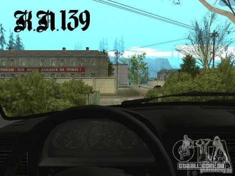 Gaz 3110 beta 0.1 para GTA San Andreas traseira esquerda vista