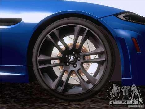 Jaguar XKR-S 2011 V2.0 para GTA San Andreas vista superior
