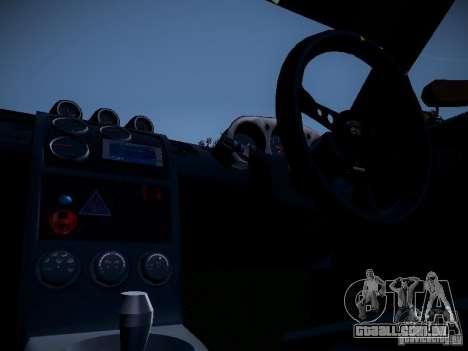 Nissan 370Z Chris Forsberg para GTA San Andreas vista traseira