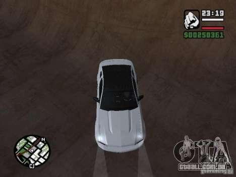 Ford Mustang GT B&W para GTA San Andreas vista traseira