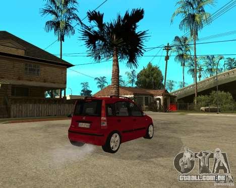 2004 Fiat Panda v.2 para GTA San Andreas traseira esquerda vista