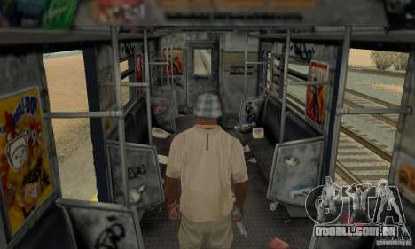 GTA IV Enterable Train para GTA San Andreas vista superior
