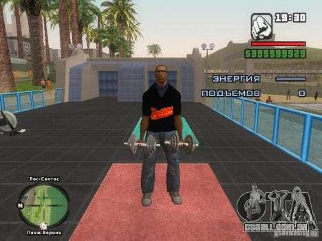 A t-shirt MIZ para GTA San Andreas sétima tela