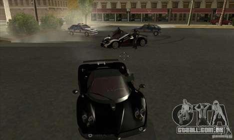 Pagani Zonda F Speed Enforcer BETA para GTA San Andreas vista interior