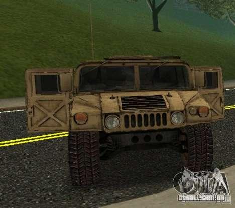 Sand Patriot HD para GTA San Andreas traseira esquerda vista