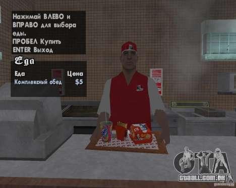 Novas texturas de restaurantes e lojas para GTA San Andreas quinto tela