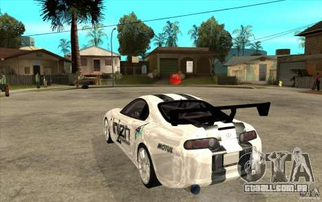 Toyota Supra MK-4 para GTA San Andreas traseira esquerda vista