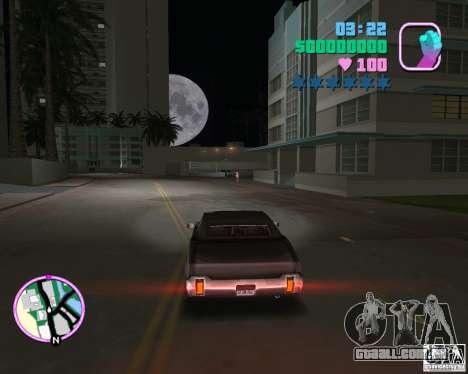Novo Sabre para GTA Vice City vista traseira esquerda