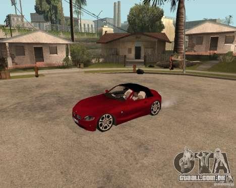 BMW Z4 para GTA San Andreas traseira esquerda vista