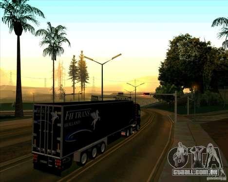 Reboque para a Scania R620 Pimped para GTA San Andreas traseira esquerda vista