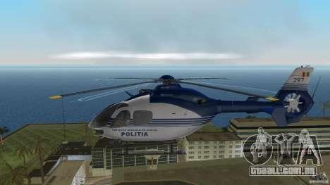 Eurocopter Ec-135 Politia Romana para GTA Vice City vista traseira esquerda