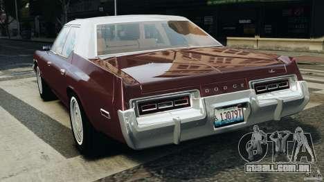 Dodge Monaco 1974 v1.0 para GTA 4 traseira esquerda vista